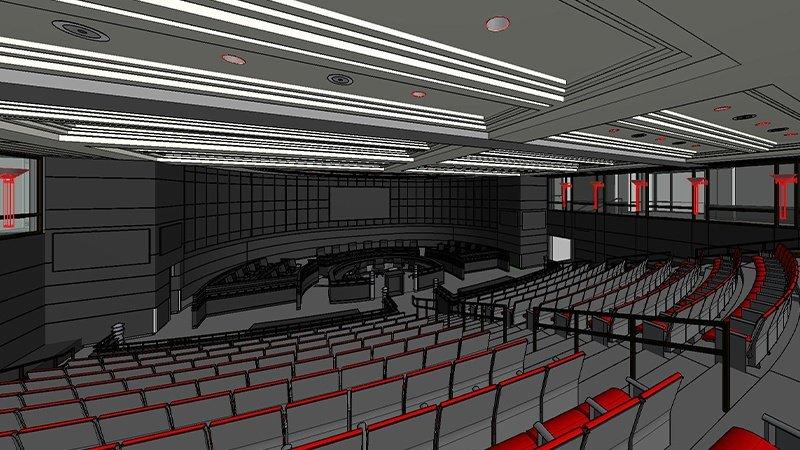 Fulton board assembly hall renovation